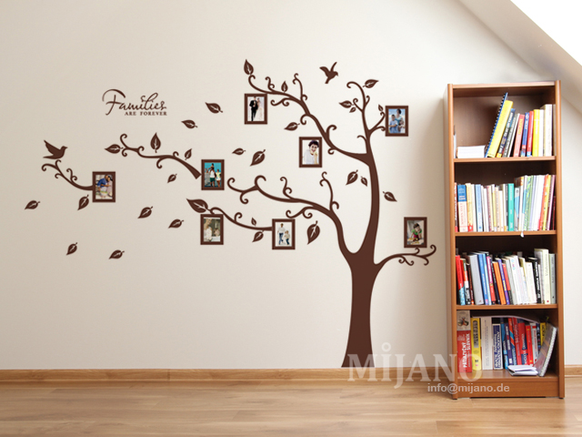 2 tlg xxxl wandtattoo wandsticker wandaufkleber baum 8 bilderrahmen fotorahmen ebay. Black Bedroom Furniture Sets. Home Design Ideas