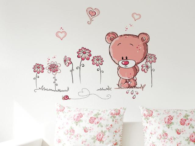 Wandtattoo wandsticker wandaufkleber pink b r b rchen deko - Wandtattoo barchen ...