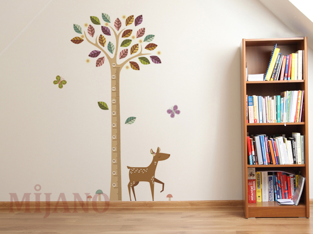 wandtattoo messlatte messstab baum wandsticker wandaufkleber kinderzimmer deko ebay. Black Bedroom Furniture Sets. Home Design Ideas